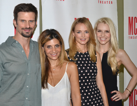 The stars of The Money Shot: Heather Graham, Gia Crovatin, Callie Thorne, and Frederick Weller.