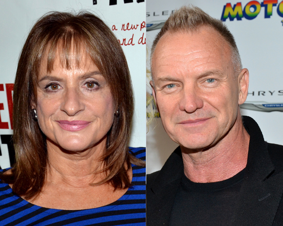 Patti LuPone and Sting will perform at Uprising of Love: A Benefit Concert for Global Equality on September 15 at the Gershwin Theatre.