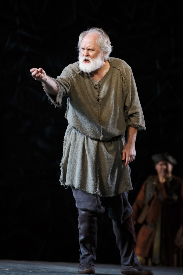 John Lithgow in the title role of Shakespeare's King Lear, directed by Daniel Sullivan, at the Delacorte Theater in Central Park.