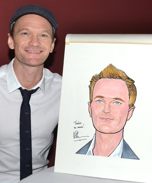 Neil Patrick Harris shows off his Sardi's caricature.