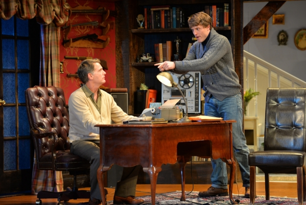 John Lloyd Reynolds (left) as Sidney Bruhl and Loren Dunn as Clifford Anderson in Deathtrap at John W. Engeman Theater.