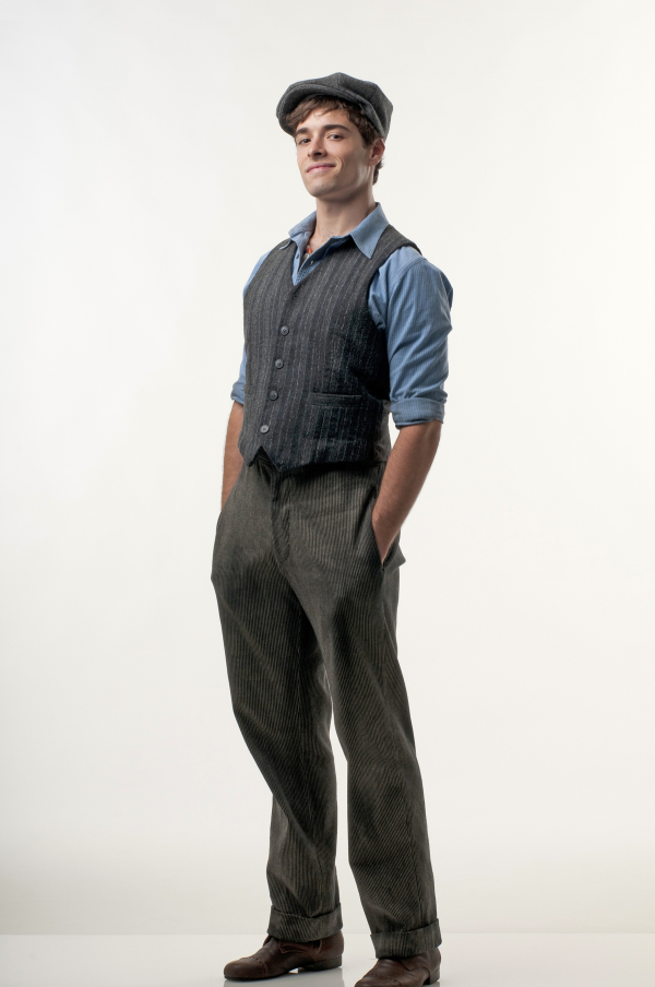 Corey Cott plays Jack Kelly in Newsies, written by Alan Menken, Jack Feldman, and Harvey Fierstein.