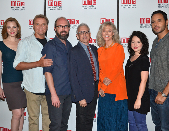 The Country House playwright Donald Margulies (center) with the cast of his new production at Manhattan Theatre Club.