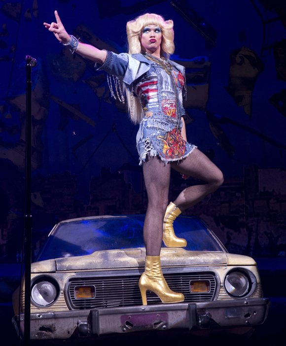 Andrew Rannells throwing serious shade as Hedwig in Hedwig in the Angry Inch.