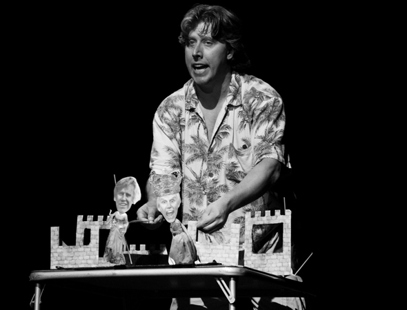 David Carl playing all the roles in his solo show, Gary Busey's One-Man Hamlet (as performed by David Carl).