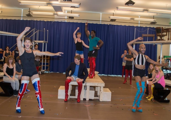 The cast of the upcoming Kinky Boots tour in action.