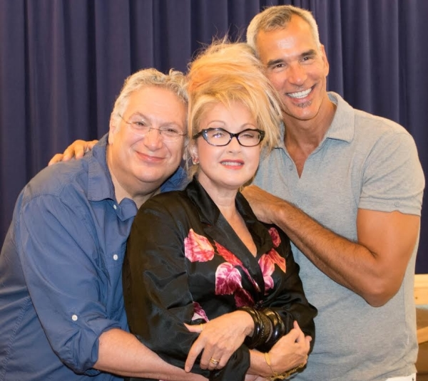 Harvey Fierstein, Cyndi Lauper, and Jerry Mitchell share the love.