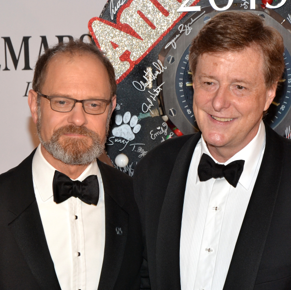 It Shoulda Been You, a musical directed by David Hyde Pierce (left) and written by his partner, Brian Hargrove (right), is expected to open on Broadway this March.