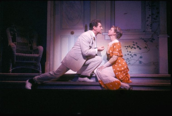 Robert Preston and Barbara Cook in the original 1957 Broadway production of The Music Man.