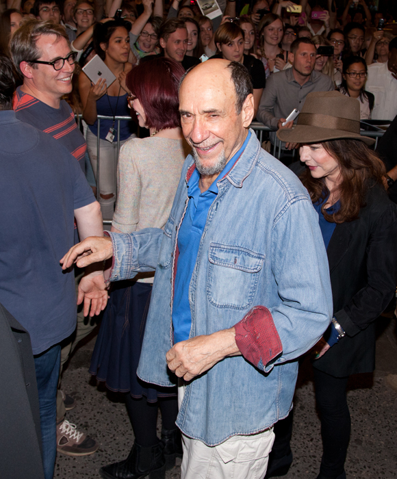 F. Murray Abraham is jubilant as he departs the theater.
