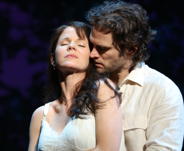 Tony nominee Kelli O'Hara and Steven Pasquale as Francesca Johnson and Robert Kincaid in The Bridges of Madison County.