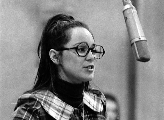 Victoria Mallory in the recording session for the original A Little Night Music, in which she created the role of Anne Egerman.