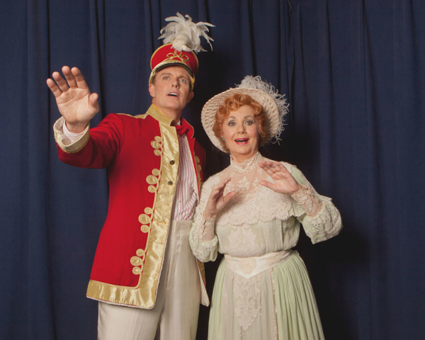 Patrick Cassidy as Harold Hill and Shirley Jones as Mrs. Paroo in The Music Man In Concert.