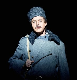 Anthony Warlow as Yuri Zhivago in the 2011 Australia production of Doctor Zhivago.