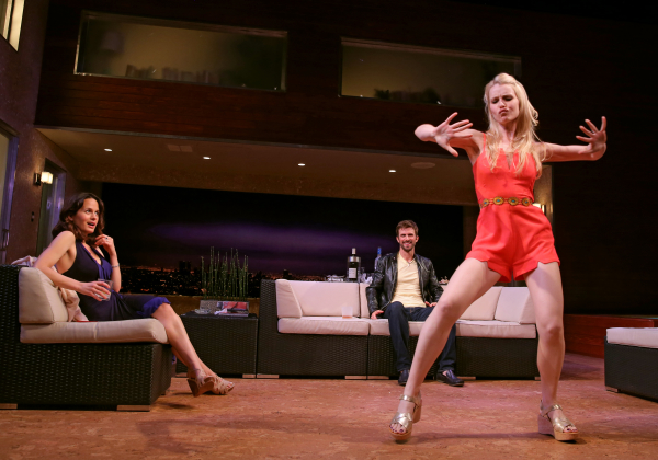Elizabeth Reaser, Frederick Weller, and Gia Crovatin in Neil LaBute's The Money Shot.