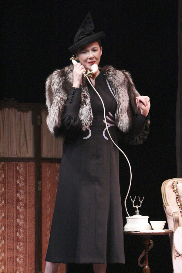 Annette Bening as Ruth Draper in Ruth Draper's Monologues at the Geffen Playhouse in Los Angeles.