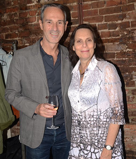 Director Ivo van Hove with the show's translator, Emily Mann.