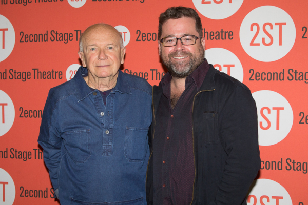 Playwright Terrence McNally with director Peter DuBois.