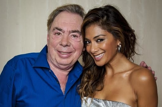 Andrew Lloyd Webber with his new Cats star, Nicole Scherzinger.