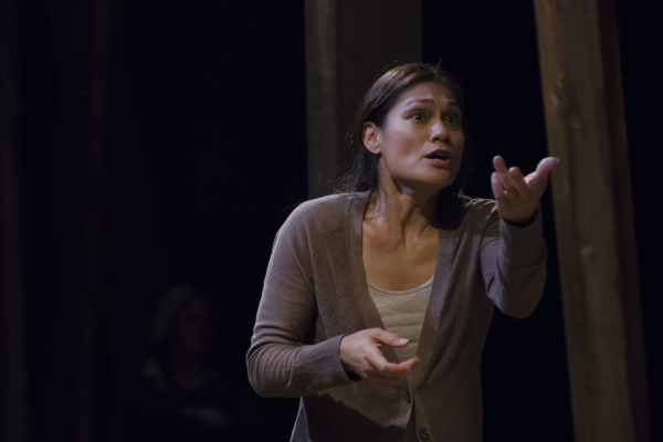 Celeste Oliva stars in Reconsidering Hanna(h), directed by Bridget Kathleen O'Leary, at Boston Playwrights' Theatre.