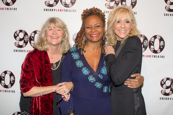 Judith Ivey, Tonya Pinkins, and Judith Light have fun before the Cherry Lane gala.