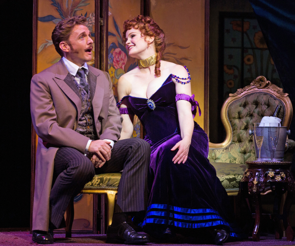 Jason Danieley and Kate Baldwin star as Aristide Forestier and La Mome Pistache in the Paper Mill Playhouse revival of Can-Can, directed by David Lee.