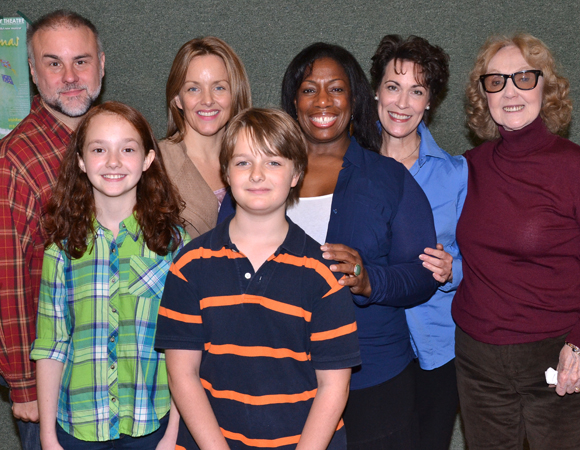The cast of A Christmas Memory with director Charlotte Moore (right).