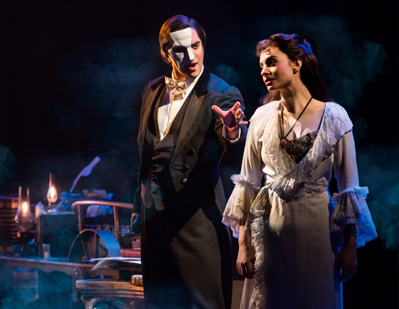 Cooper Grodin and Julia Udine star as The Phantom and Christine in the North American touring production of The Phantom of the Opera.