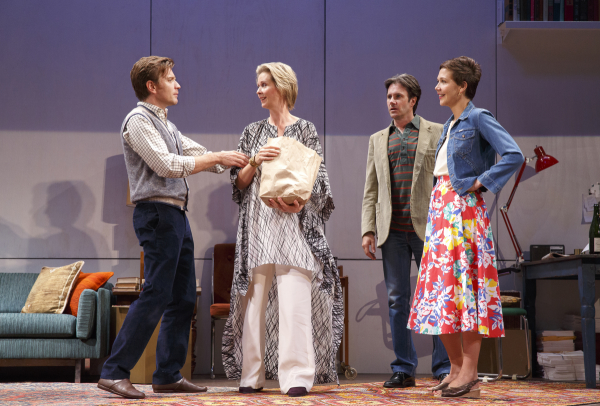 Ewan McGregor (Henry), Cynthia Nixon (Charlotte), Josh Hamilton (Max), and Maggie Gyllenhaal (Annie) in Tom Stoppard's The Real Thing, now being revived at Roundabout Theatre Company's American Airlines Theatre.