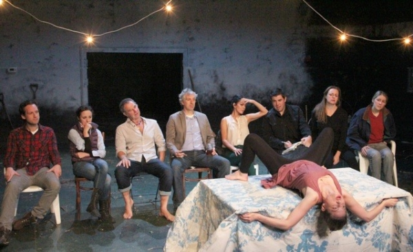 The cast of the Bedlam production of Anton Chekhov's The Seagull, directed by Eric Tucker, at the Sheen Center.