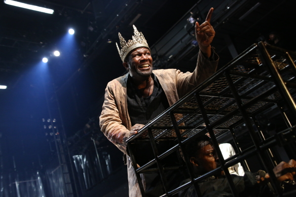 John Douglas Thompson and Chukwudi Iwuji star in Christopher Marlowe's Tamburlaine, Parts I and II, directed by Michael Boyd, at Theatre for a New Audience.