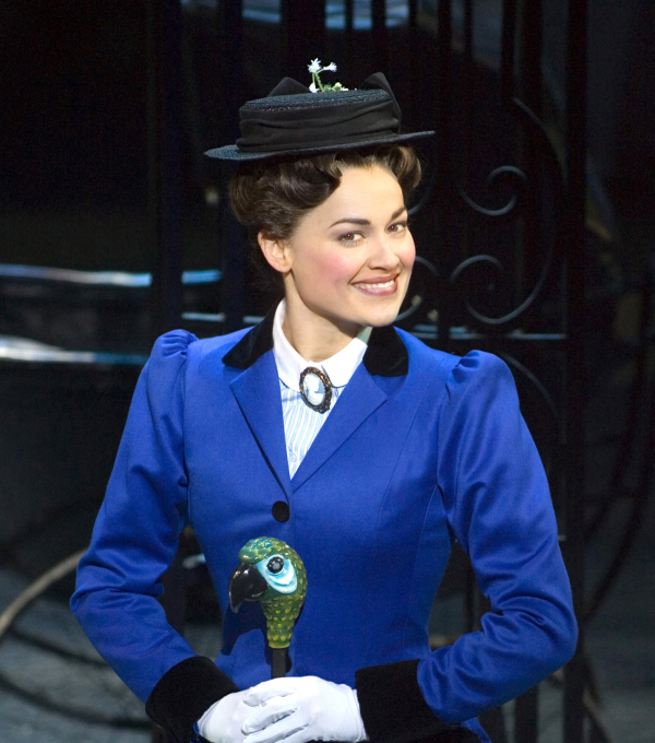Ashley Brown as Mary Poppins in Mary Poppins at the New Amsterdam Theatre.
