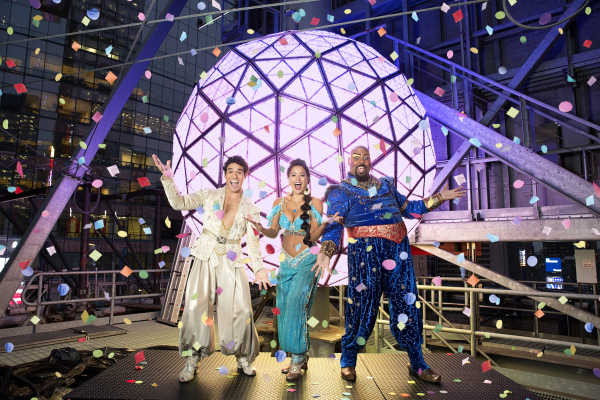 Aladdin's Adam Jacobs, Courtney Reed, and James Monroe Iglehart will celebrate at Times Square New Year's Eve 2015.