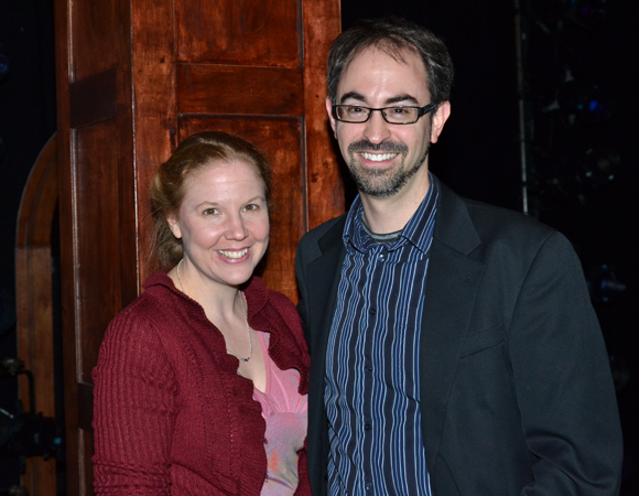 Cara Reichel and Peter Mills are the authors of The Underclassman, a new musical at the Duke on 42nd Street.