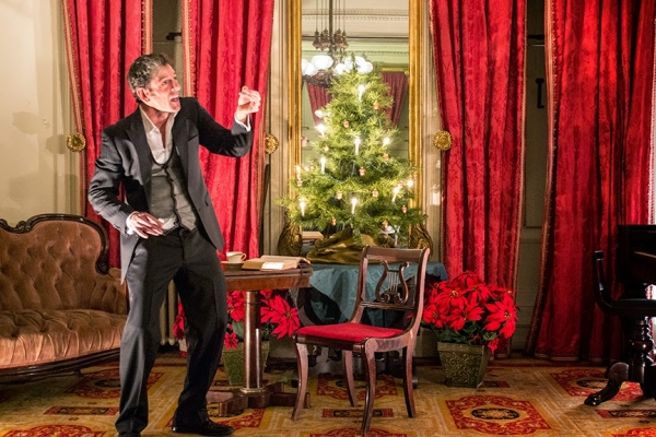 John Kevin Jones performs a solo version of Charles Dickens' A Christmas Carol, directed by Rhonda Dodd, at the Merchant's House Museum.