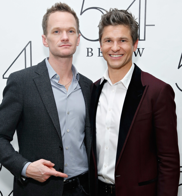 Burtka poses with his husband and director Neil Patrick Harris.