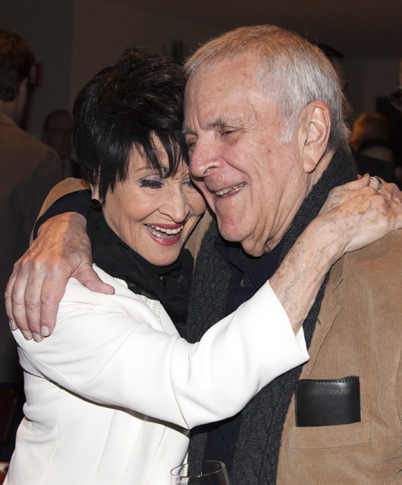 Chita Rivera and John Kander reunite at the 2014 Fred Ebb Award presentation on December 1.