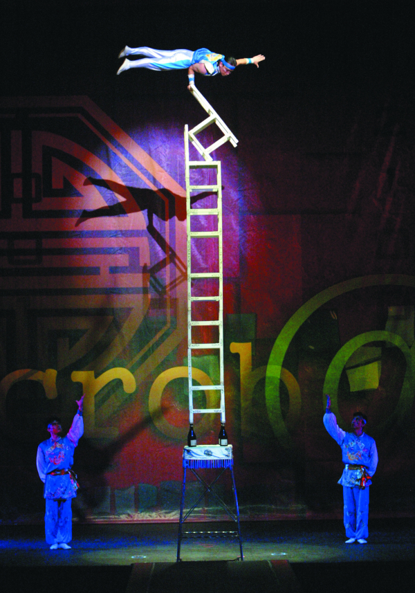 "Hui Yuan Zhu on the ""Tower of Chairs"" in Cirque Zíva."
