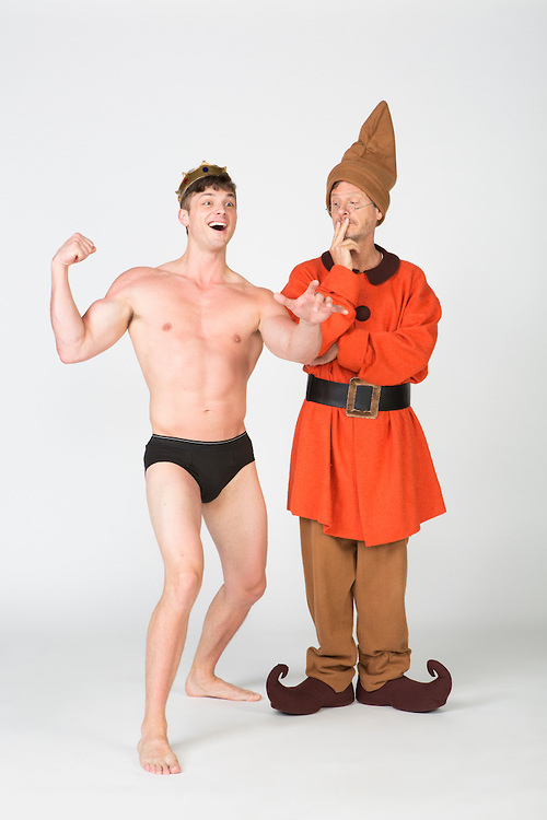 Tyler Lansing Weeks as Spike and Martin Moran as Vanya in a promotional image for Vanya and Sonia and Masha and Spike.