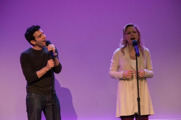 Jarrod Spector and Anika Larsen take the stage at the Apple Store.