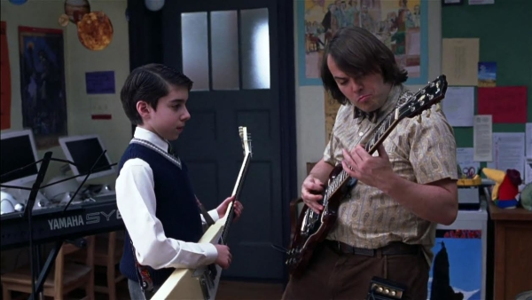A scene from the film version of School of Rock.