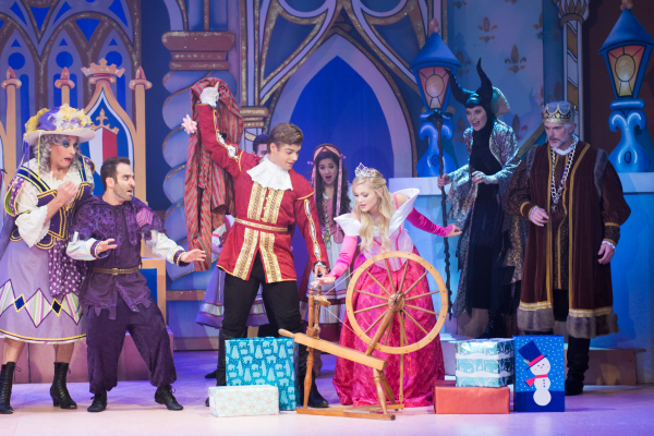 The cast of Sleeping Beauty and Her Winter Knight at Pasadena Playhouse.