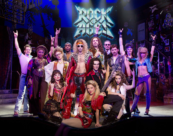 The once (and future?) cast of Rock of Ages.