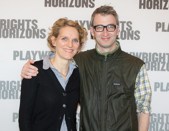 Playwright Melissa James Gibson and director Daniel Aukin.