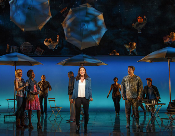 Idina Menzel and the Broadway cast of If/Then at the Richard Rodgers Theatre.
