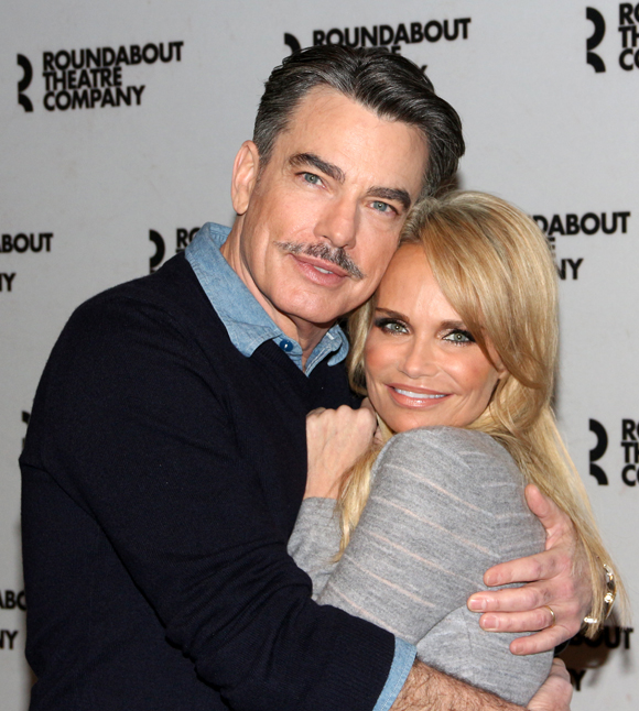 Peter Gallagher and Kristin Chenoweth lead the cast of Roundabout Theatre Company's revival of On the Twentieth Century as Oscar Jaffee and Lily Garland.