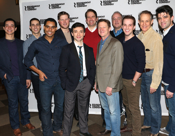 The men of On the Twentieth Century: Richard Riaz Yoder, Drew King, Phillip Attmore, Preston Truman Boyd, Rick Faugno, James Moye, Andy Taylor, Kevin Ligon, Justin Bowen, Jim Walton, and Ben Crawford.