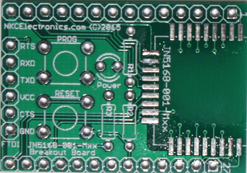 JN5168-001-Mxx breakout PCB