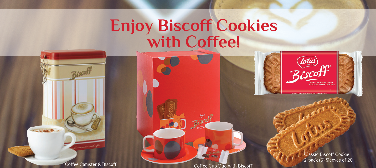 Biscoff Cookies and Coffee