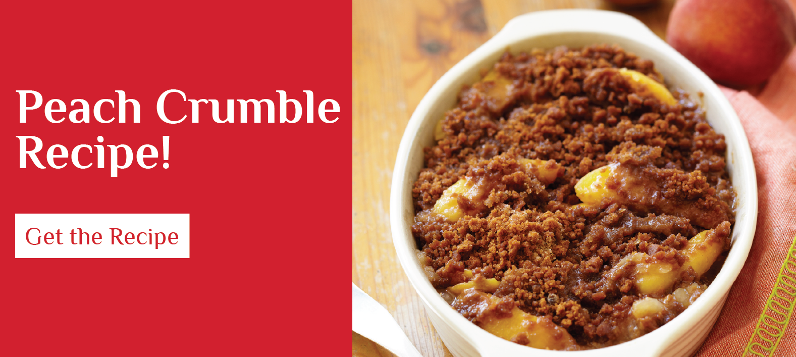Get the Peach Crumble Recipe!